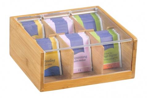 Teekiste mit Bambus, Behälter für die Küche, Behälter mit Deckel, Küchenzubehör