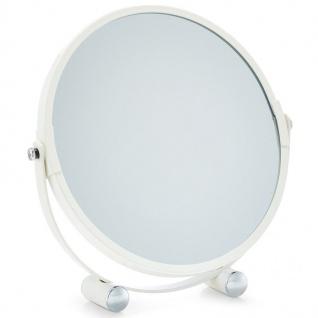 18, 5 cm Kosmetikspiegel, doppelseitiger Spiegel mit doppelter Vergrößerung - ZELLER