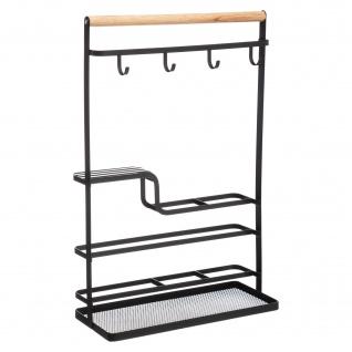 Küchenorganizer mit Haken, 28 x 12 x 43, 5 cm, Metallständer - 5five Simple Smart