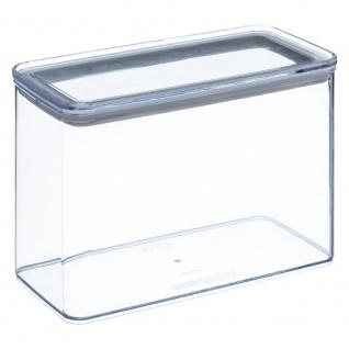 Lebensmittelbehälter, transparent, rechteckig, mit versiegeltem Deckel, 2 Liter