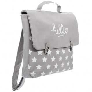 Schultasche mit Clip-Öffnung, Farbe grau - Atmosphera