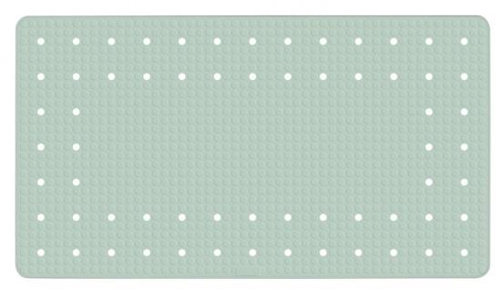 MIRASOL Gummimatte mit rutschfester Struktur, Badewanneneinsatz mit Saugnäpfen - 69 x 39 cm, WENKO