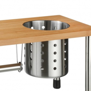 Secret de Gourmet, 3in1 Küchenregal, Bambus, Edelstahl - Vorschau 2
