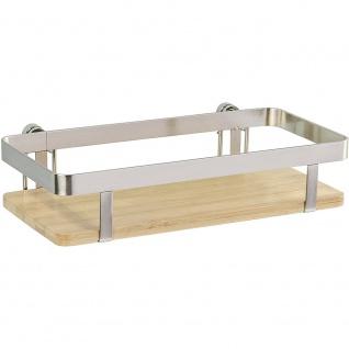 WENKO Universalregal Küchen-Ablage, Küchenregal, silber matt, 12 x 25 x 5.5 cm