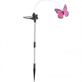 Gartendeko, beweglicher Schmetterling, solarbetrieben