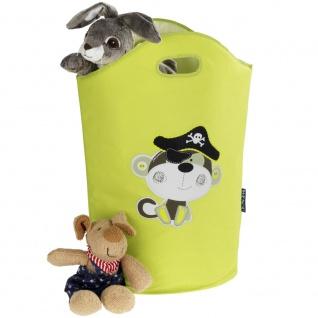 Korb zur Aufbewahrung von Wäsche oder Spielzeug, Behälter mit dekorativen Grafiken und Griffen - 24 l, WENKO