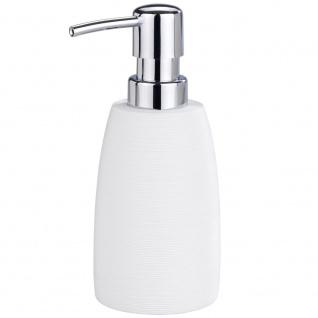 GOA Flüssigseifenbehälter, praktischer Badezimmer-Spender mit Pumpe - 210 ml, WENKO