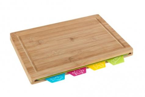 BELLA Schneidebrett-Set, 4 Arbeitsplatten für Fisch/Fleisch/Rind/Gemüse, Wenko