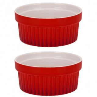 Farbige keramische Mehrzweckförmchen 260 ml - 2 Stück