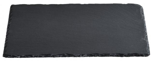 Buffet-Platte aus Schiefer, Servierbrett, Küchenbrett, Küchenzubehör, 40 x 30 cm