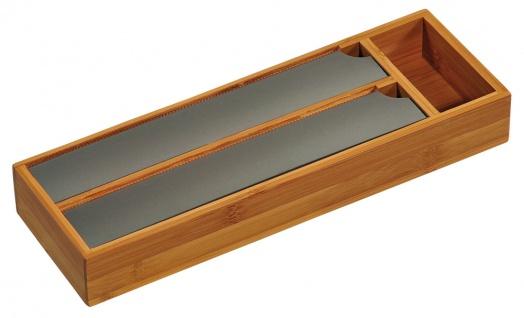 Folienspender für die Schublade, Schubladenorganizer, Küchenzubehör, Bambus FSC