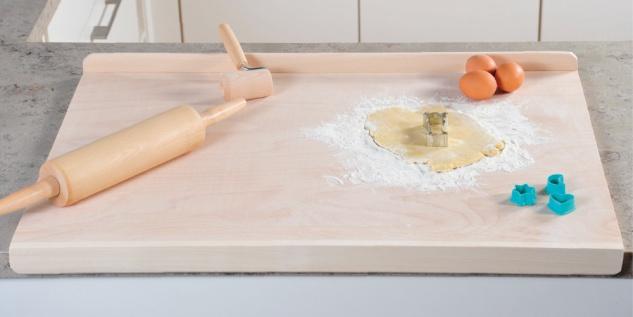 Backbrett, Küchenzubehör, FSC-Schichtholz, Maße: 75 x 52 x 4 cm