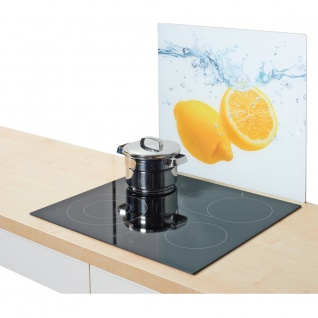"ZELLER, Herdblende-/Abdeckplatte, Glasschutzplatte "" Lemon Splash"" -groß, ZELLER - Vorschau 2"