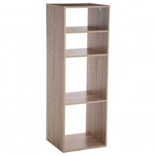 Dekoregal Bücherregal Deko 4 Ebenen braun Höhe 100 cm