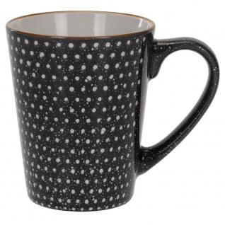 Becher für warme Getränke, Kaffee, Tee, Keramik, 310 ml, Punkte und Pfeile - EH Excellent Houseware