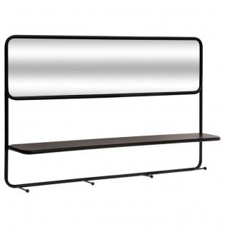 Flurregal mit Spiegel und 4 Haken, Metall, Wand - Atmosphera