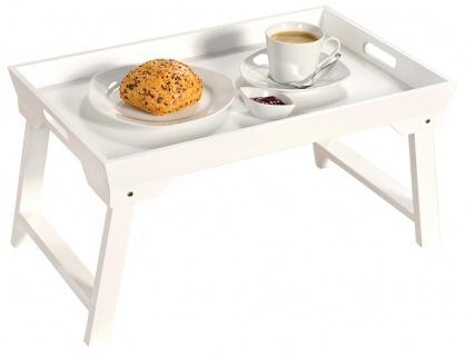 Serviertablett mit Klappgestell, Holztisch, Frühstückstablett, Tablett für Bett