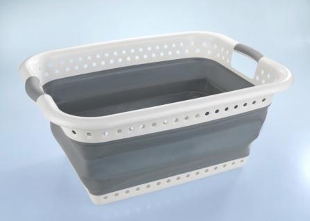 Wäschekorb, faltbarer Kunststoffbehälter mit 2 Griffen - 60, 2 x 45, 6 x 28 cm, WENKO
