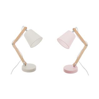 Schreibtischlampe, hölzerner verstellbarer Fuß, ideal für Kinderzimmer.