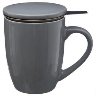 Keramikbecher mit Blatt-Teesieb, 320 ml, Secret de Gourmet