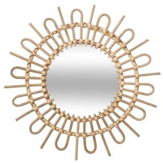 Spiegel, Rattan, Sonne, Durchmesser 50 cm, beige