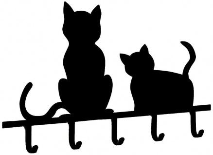 Schlüsselbrett Schlüsselboard Schlüsselleiste Schlüsselkasten Ablage Katzen