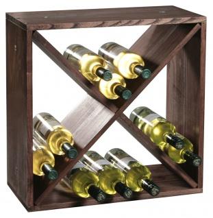 Weinregal, stylische dunkelbraune Box für 24 Flaschen - Kesper