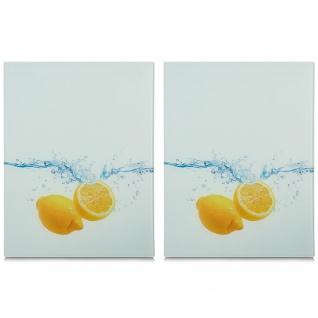 2 x Herdschutzplatten aus gehärtetem Glas, 52 x 40 cm, ZELLER