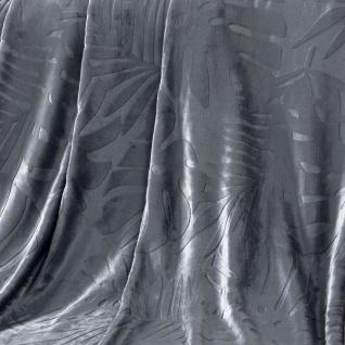 Flanelldecke Sequoia, 125 x 150 cm, Anthrazit - Douceur d'intérieur - Vorschau 3