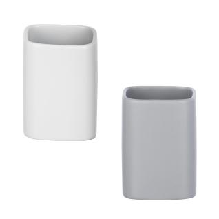 Behälter für Zahnbürsten und Zahnpasta, eleganter Keramikbecher MILA - WENKO