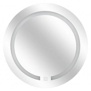 Badezimmerspiegel, rund, beleuchtet, LED, Touchscreen, Durchmesser 45 cm - 5five Simple Smart