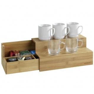 Bambus Organizer für Kaffee und Tee, zweistöckige Box mit Fächern, WENKO