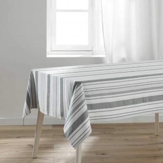 Tischdecke SANTORIN, rechteckig, 140 x 240 cm, weiß-grau