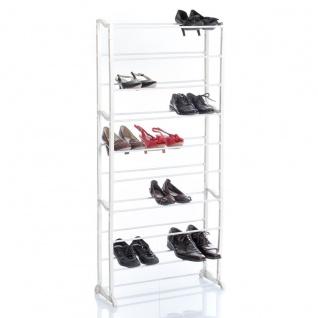 Schuhregal mit Platz für 30 Paar Schuhe, 10 Ebenen e