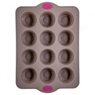 Silikonform für 12 Muffins