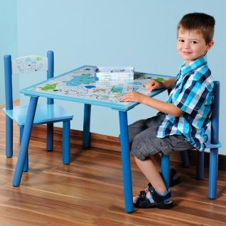 Holztisch für Kinder und 2 Stühle in mit Herzmuster, Kindermöbel