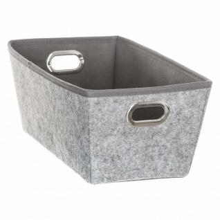 Vorratsbehälter grau, 33x 18x 13, 5 cm