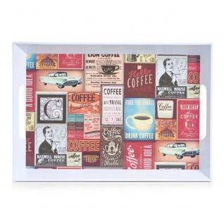 """Zeller Melamintablett """" Retro"""" Melamin dekor 50 x 35 x 5 cm"""