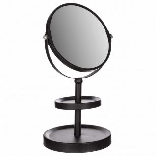 Kosmetikspiegel, Metall, Badezimmer, Badezimmerspiegel, Schmuck Organizer, 2in1, Silber