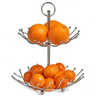 ZELLER Obst-Etagere, 2 Ablagen, Metall verchromt
