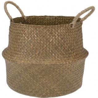 Basebag geflochten aus Seegras, Lagerbusch, 38x38x20 cm