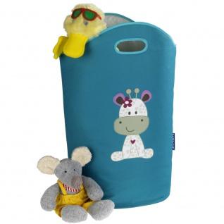Spielzeugaufbewahrung oder Wäschesack, Textilkorb mit dekorativen Grafiken und zwei Griffen - 24 l, WENKO