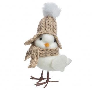 Weihnachtsdekoration mit Huhn in einem Hut und Schal, Farbe weiß - Fééric Lights and Christmas