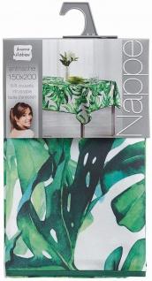 Tischdecke, rechteckig, CARVENAO, 150 x 200 cm, weiß mit Blätter-Motiv - Vorschau 2