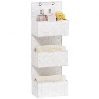 Wenko Organizer Adria zum Aufhängen, Badkörbe, 3 Ebenen, Polypropylen, weiß, 15, 5 x 25 x 72 cm - Vorschau 2