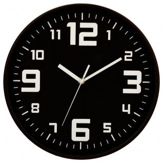 Runde Kunststoff-Wanduhr, Küchenuhr, Uhre - Ø 30 cm