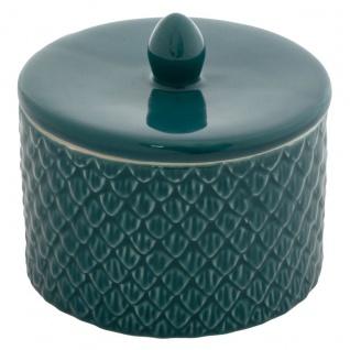 Schmuckschatulle aus Keramik, kleines Fach, Ø 11 cm - Atmosphera