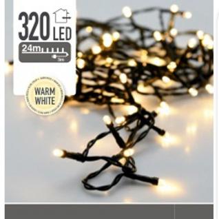 320 LED Outdoor Weihnachtsbaum Lichter 24 m warmes Licht gelb - Home Styling Collection