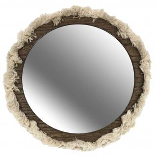 Deko-Spiegel VOYAGE BERBERE mit Fransen, Ø 46 cm, Holz