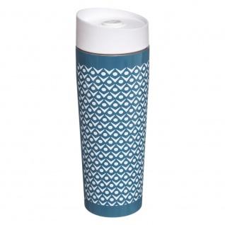 Scand Coocon Thermobecher, geometrisches Design Behälter, hat eine versiegelte Edelstahlmutter.